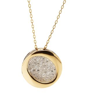 Antonini 18K Yellow Gold Diamond Atolli Medium Pendant Necklace, 16
