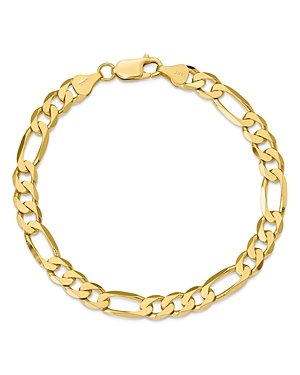 Bloomingdale's 14K YELLOW GOLD 7MM FLAT FIGARO CHAIN BRACELET, 9 - 100% EXCLUSIVE
