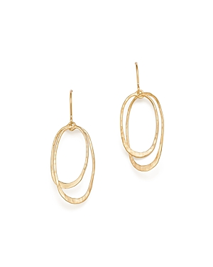 Bloomingdale's 14K Yellow Gold Hammered Oval Orbit Earrings - 100% Exclusive