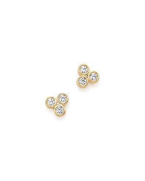 Bloomingdale's Diamond Three Stone Bezel Stud Earrings in 14K Yellow Gold, .50 ct. t.w.