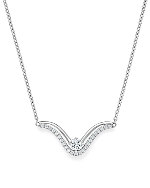 Bloomingdale's Diamond Double Row Pendant Necklace in 14K White Gold, .25 ct. t.w. - 100% Exclusive