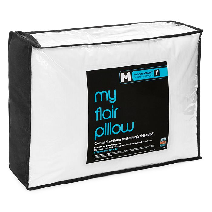 Bloomingdale's - My Flair Asthma & Allergy Friendly Medium Pillow, Standard - 100% Exclusive