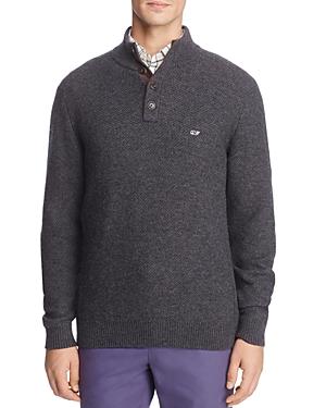 Vineyard Vines Waffle-Knit Mock Neck Sweater