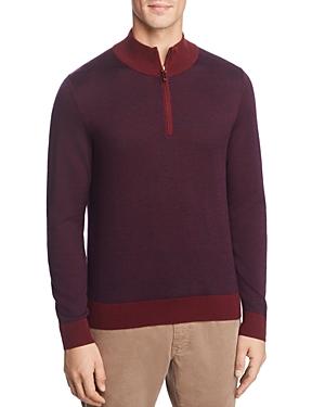 Brooks Brothers Sweaters BIRDSEYE QUARTER-ZIP SWEATER