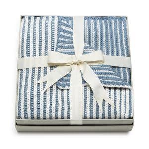Elegant Baby Boys' Twisted-Yarn Blanket thumbnail