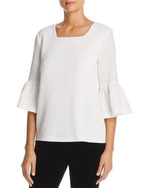 Calvin Klein Textured Bell Sleeve Top