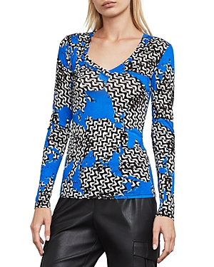 Bcbgmaxazria Jann Abstract-Print Top at Bloomingdale's