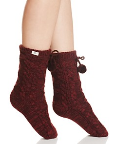 UGG® Pompom Fleece-Lined Socks - Bloomingdale's_0