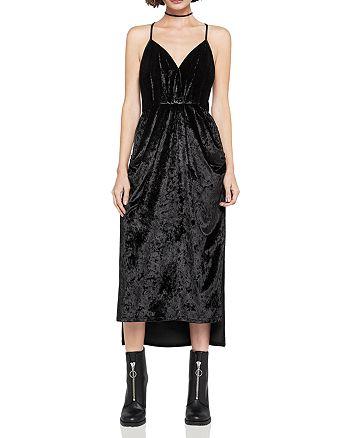 BCBGeneration - Velvet Faux-Wrap Midi Dress