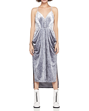 BCBGeneration Velvet Faux-Wrap Midi Dress