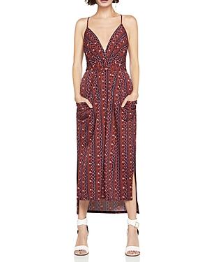 BCBGeneration Printed Faux-Wrap Midi Dress