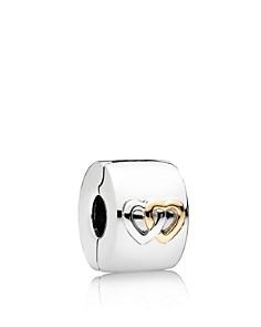 PANDORA - Sterling Silver & 14K Gold Hearts Aglow Clip