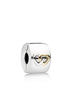 Pandora - Sterling Silver & 14K Gold Hearts Aglow Clip