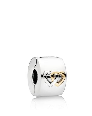 Sterling Silver & 14 K Gold Hearts Aglow Clip by Pandora