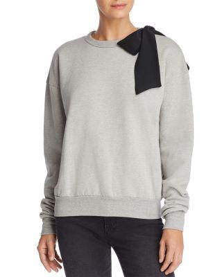 Bow Crew Neck Sweatshirt