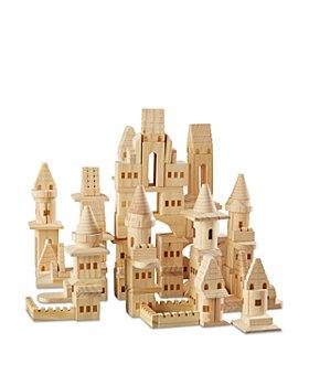 FAO Schwarz - Wooden Castle Blocks, 150-Piece Set - Ages 4+