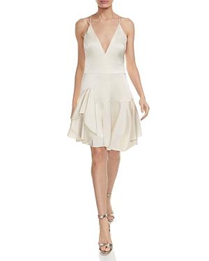 Halston Heritage Double-Strap Satin Cami Dress