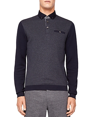 Ted Baker Woolpak Mouline Regular Fit Polo