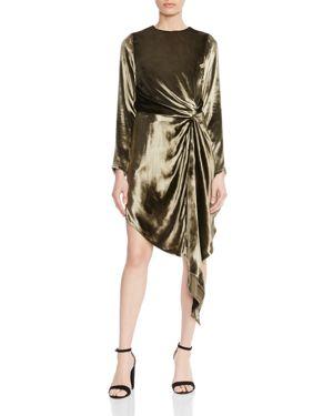 Haute Hippie Melanie Knot-Detail Velvet Dress 2734301