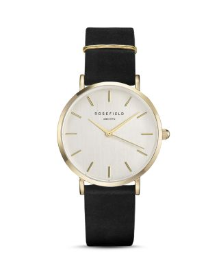 ROSEFIELD WBLG-W71 THE WEST VILLAGE LEATHER AND GOLD-PLATED WATCH
