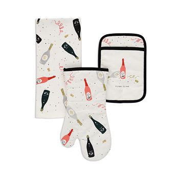 kate spade new york - Champagne Celebration Towel and Oven Mitts, Set of 3