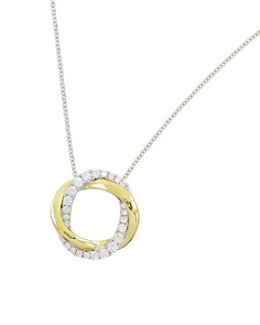 "Frederic Sage 18K White & Yellow Gold Diamond Halo Pendant Necklace, 16"" - Bloomingdale's_0"
