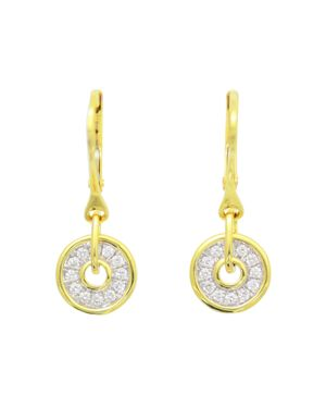 Frederic Sage Diamond Firenze Spinning Disc Drop Earrings in 18K White & Yellow Gold
