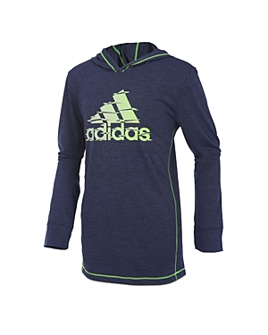 Adidas Boys' Printed-Logo Hoodie - Little Kid