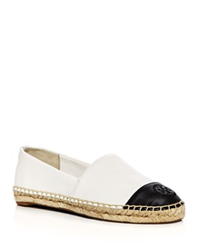 Tory Burch - Women's Leather Color Block Espadrille Flats
