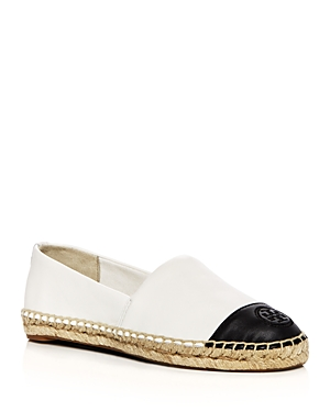 Tory Burch Women's Leather Color Block Espadrille Flats