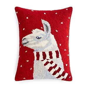 Peking Handicraft Llama with Scarf Decorative Pillow, 14 x 18