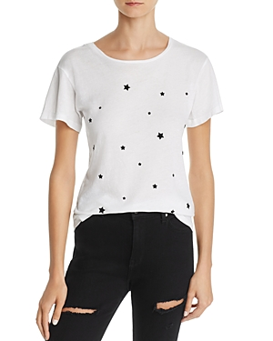 Monrow Flocked Star Tee