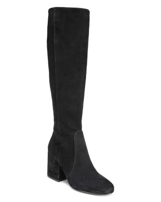 Thora Suede Tall Block Heel Boots
