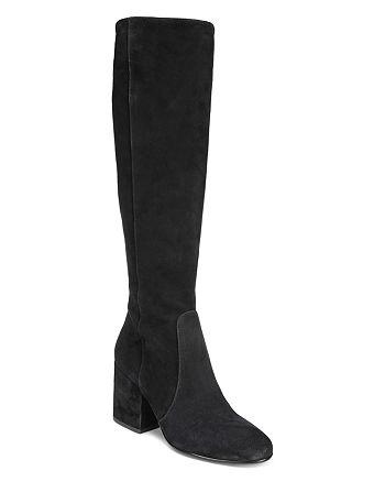 2d9eb54b5 Sam Edelman - Women s Thora Suede Tall Block Heel Boots
