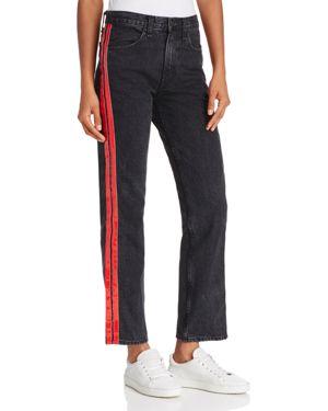 rag & bone/Jean Tuxedo Straight jeans in Washed Black