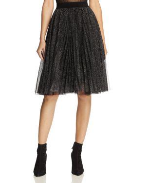 Molly Bracken Metallic Pleated Skirt