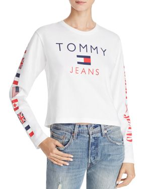 Tommy Jeans '90s Long-Sleeve Logo Tee