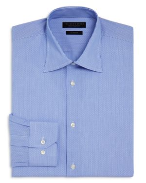 The Men's Store at Bloomingdale's Dobby Stripe Slim Fit Dress Shirt - 100% Exclusive