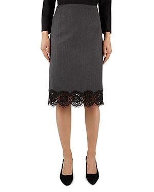 Gerard Darel Alabama Lace-Hem Skirt