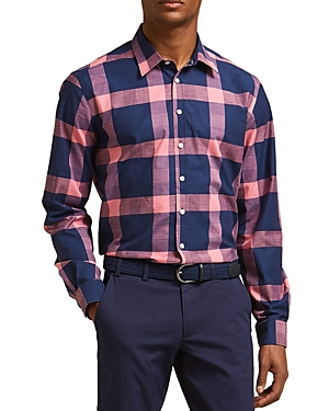 Thomas Pink Cavill Texture Slim Fit Button-Down Shirt