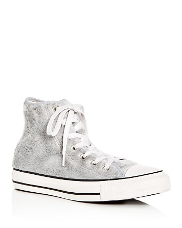 $Converse Women's Chuck Taylor All Star Faux-Fur High Top Sneakers - Bloomingdale's