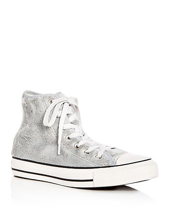 Converse - Women's Chuck Taylor All Star Faux-Fur High Top Sneakers