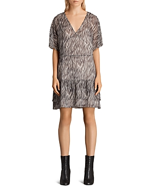 Allsaints Marley Zebra Print Dress