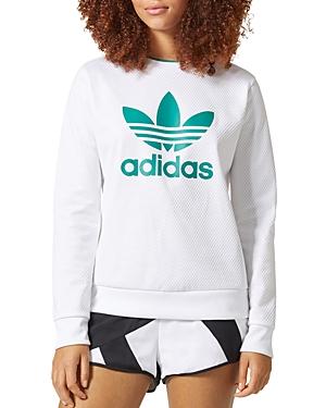 Adidas Textured Logo Sweatshirt at Bloomingdale's