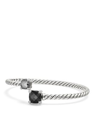Chatelaine Bypass Hermatine, Black Onyx, Pavé Diamond & Sterling Silver Bracelet