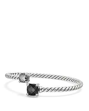 David Yurman Chatelaine Bypass Bracelet with Black Onyx, Hematine & Diamonds