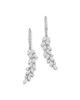 Bloomingdale's - Diamond Cascade Drop Earrings in 14K White Gold, 1.90 ct. t.w. - 100% Exclusive