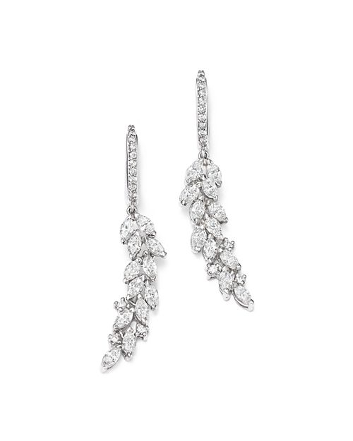 Bloomingdale's - Diamond Cascade Drop Earrings in 14K White Gold, 1.90 ct. t.w. - 100% Exclusive