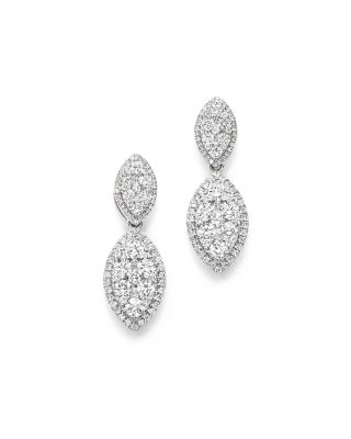Bloomingdale's Diamond Double Marquise Earrings in 14K White Gold, 2.20 ct. t.w. - 100% Exclusive