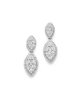 Bloomingdale's - Diamond Drop Earrings in 14K White Gold, 2.20 ct. t.w. - 100% Exclusive